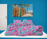 Surfer Bedding™ Eco Friendly Hawaiian Hibiscus Comforter Set from Extremely Stoked
