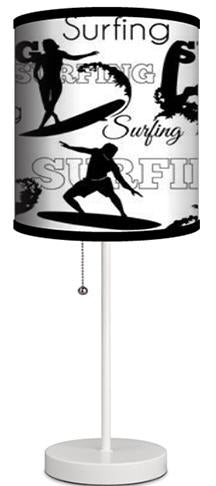 Black and White Surfing Lamp from Extremely Stoked