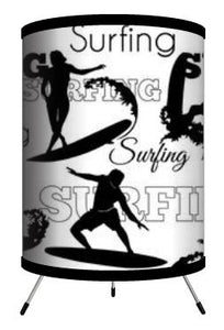 Extremely Stoked Surfing Surfer Tripod Lamp