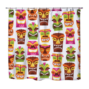 Tiki Party Shower Curtain