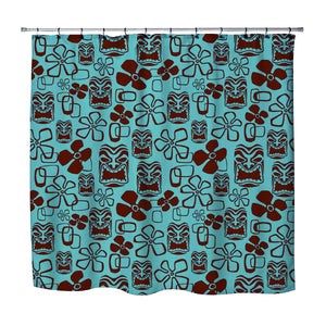 TIKI SHOWER CURTAIN FROM SURFER BEDDING
