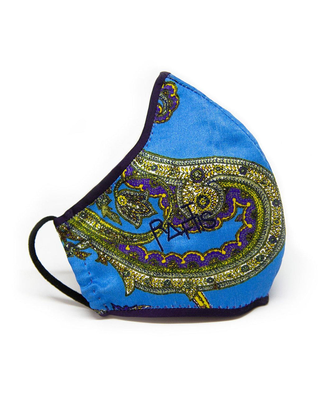 Tailored Face Mask – Paisley  Blue - FRANCESCO GUIDA