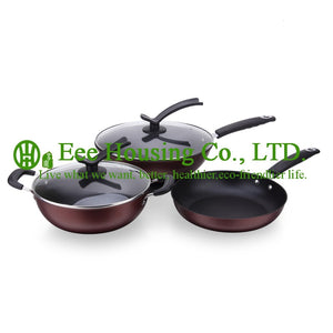 cast ironl cookware kitchen ware,manufactuer in China free shipping cooking set,wok pot and fry pan and soup pot Kitchen