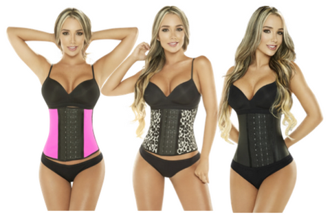3 Row Latex Waist Cinchers