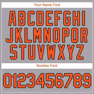 Custom Gray Orange-Black Baseball Jersey