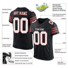 Load image into Gallery viewer, Custom Black White-Scarlet Mesh Authentic Football Jersey