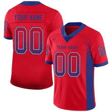 Load image into Gallery viewer, Custom Red Royal-White Mesh Drift Fashion Football Jersey