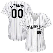 Load image into Gallery viewer, Custom White Purple Strip Black-Gray Baseball Jersey