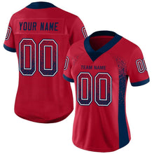 Load image into Gallery viewer, Custom Red Navy-White Mesh Drift Fashion Football Jersey