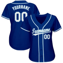 Load image into Gallery viewer, Custom Royal White-Light Blue Baseball Jersey