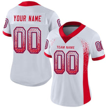 Load image into Gallery viewer, Custom White Scarlet-Royal Mesh Drift Fashion Football Jersey