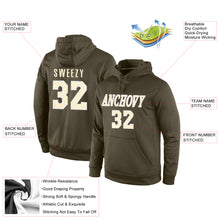 Load image into Gallery viewer, Custom Stitched Olive Cream-White Sports Pullover Sweatshirt Salute To Service Hoodie