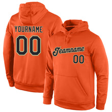 Load image into Gallery viewer, Custom Stitched Orange Black-Old Gold Sports Pullover Sweatshirt Hoodie