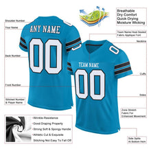 Load image into Gallery viewer, Custom Panther Blue White-Black Mesh Authentic Football Jersey