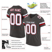 Load image into Gallery viewer, Custom Pewter White-Red Mesh Authentic Football Jersey