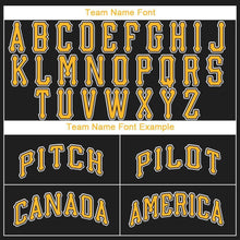 Load image into Gallery viewer, Custom Black Gold-White Baseball Jersey