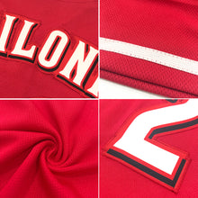 Load image into Gallery viewer, Custom Red White-Gold Authentic Baseball Jersey