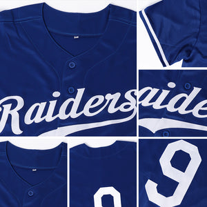 Custom Royal Red-White Authentic Baseball Jersey