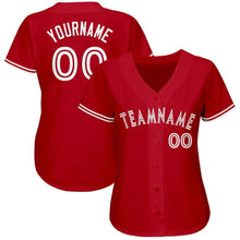 Load image into Gallery viewer, Custom Red White Baseball Jersey