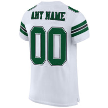 Load image into Gallery viewer, Custom White Gotham Green-Black Mesh Authentic Football Jersey