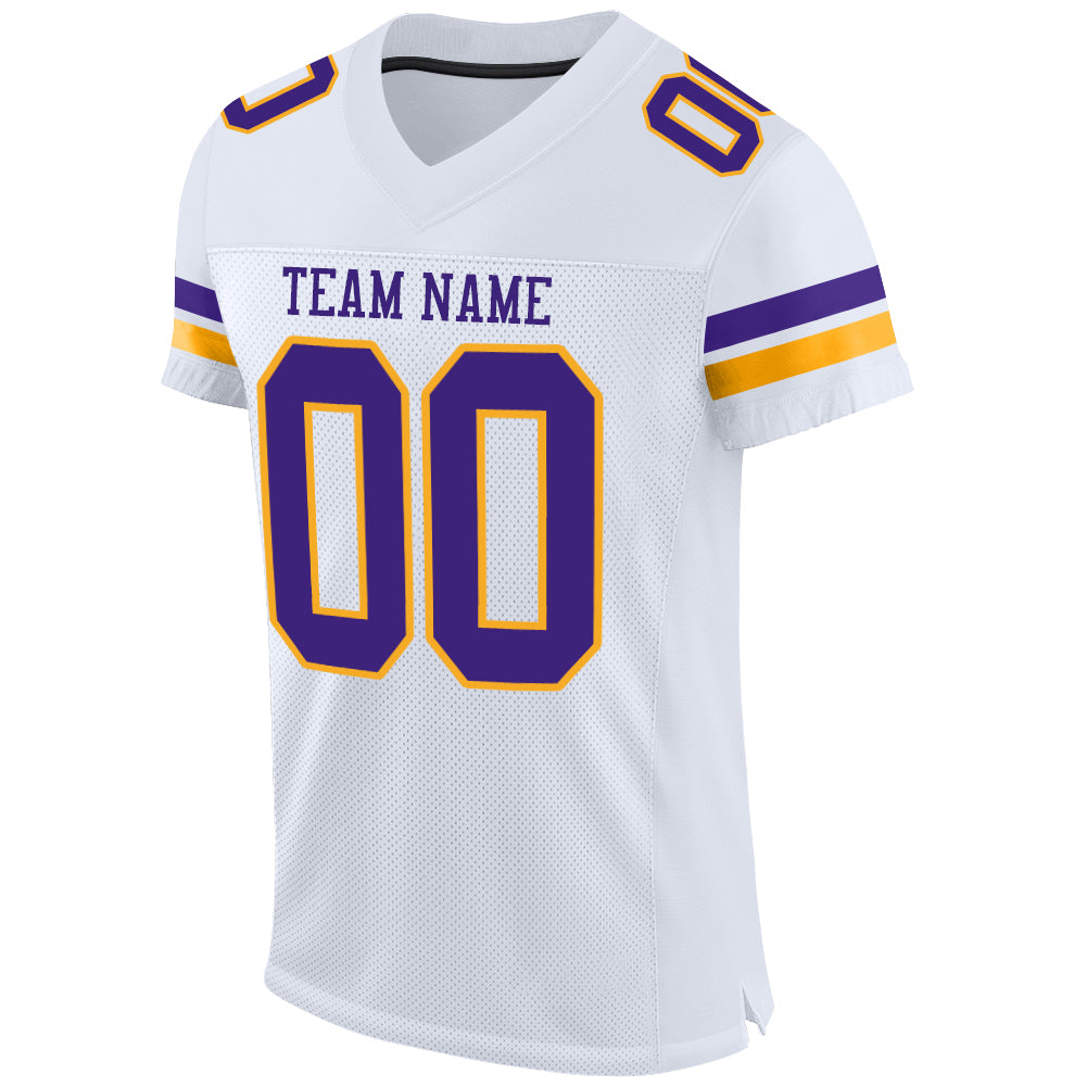 purple and gold jersey