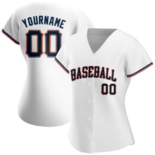 Load image into Gallery viewer, Custom White Black-Powder Blue Authentic Baseball Jersey