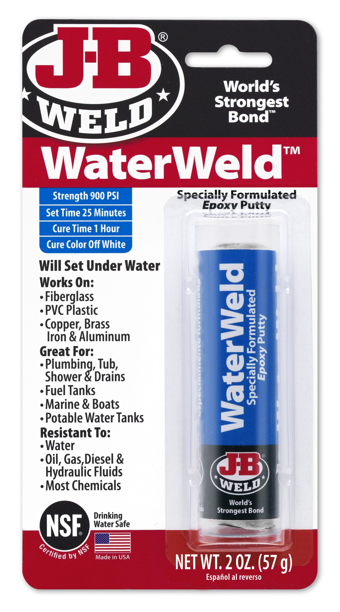 WaterWeld Epoxy Putty | J-B Weld