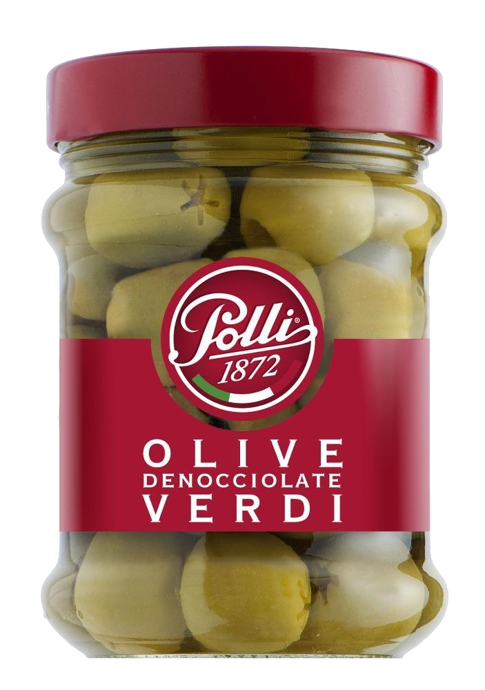 Polli | Green Pitted Olives 300G