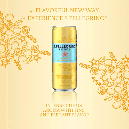 S.Pellegrino | Essenza Lemon & Lemon Zest 24X330ML