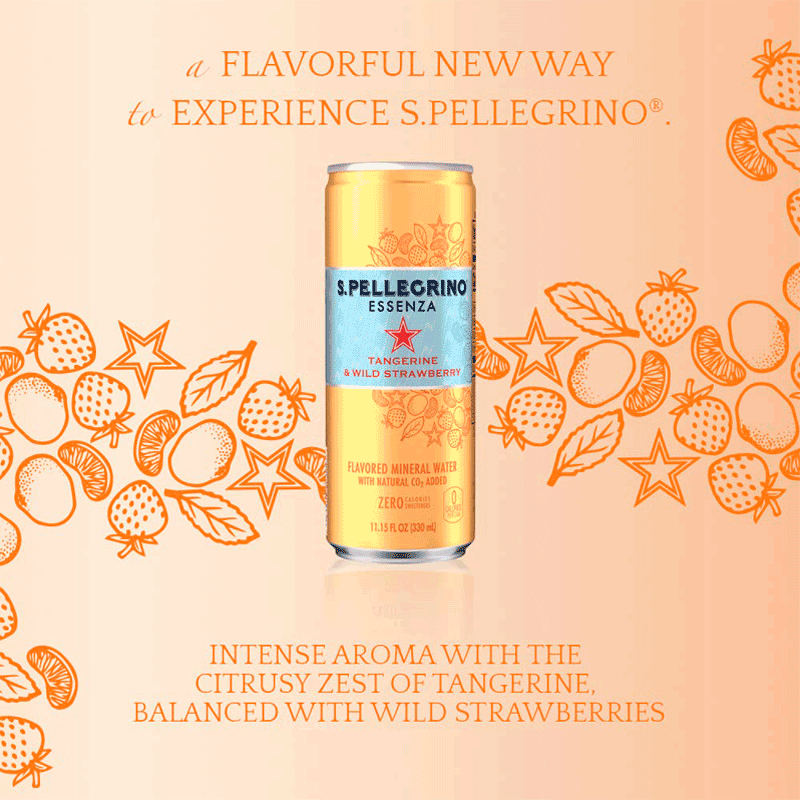 S.Pellegrino | Essenza Tangerine & Wild Strawberry 24X330ML