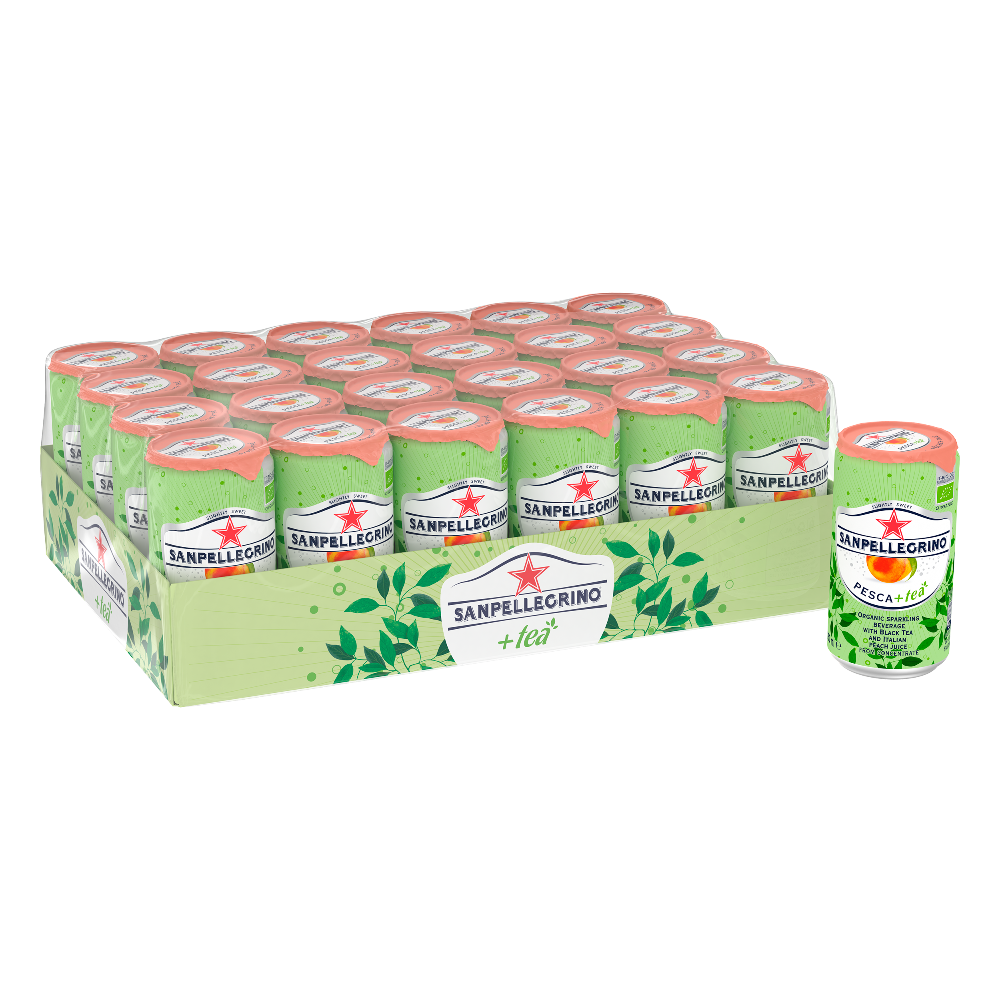 San Pellegrino Organic Peach Ice Tea Case