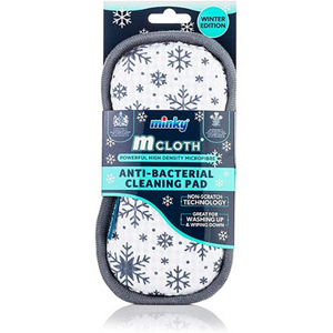'Limited Edition' Minky Christmas Snowflake M Cloth Anti Bacterial Pad