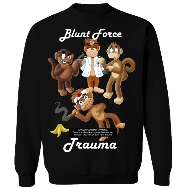Blunt Force Trauma Adult Crewneck Sweat Shirt