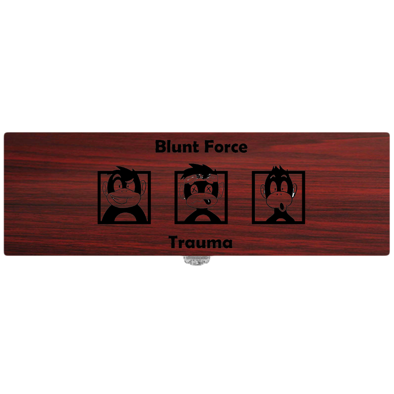 Blunt Force Trauma Wine Bottle Box Storage for One, With Tool Set - (Specialty Item)