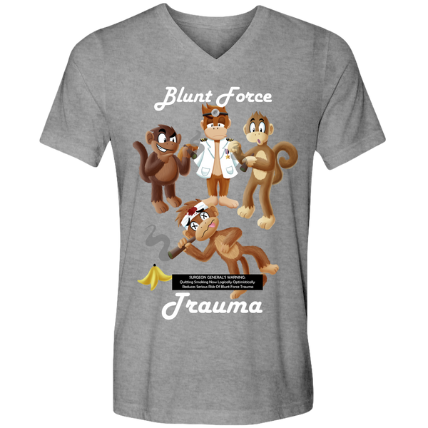 Blunt Force Trauma Adult Unisex V-Neck Tee