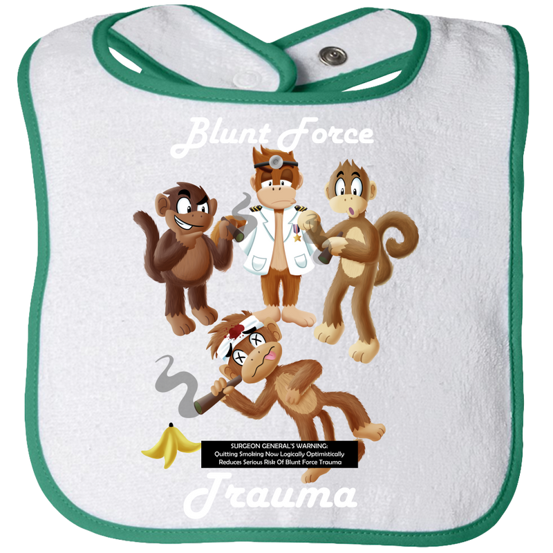 Blunt Force Trauma Baby Bibs