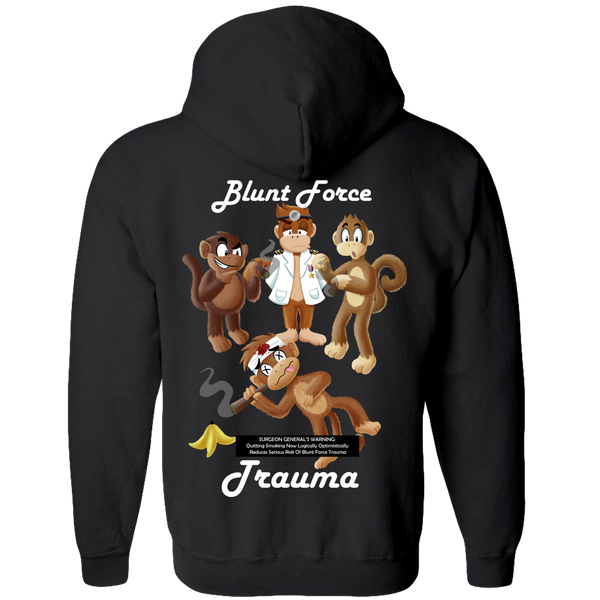 Blunt Force Trauma Adult Zipper Hoodie