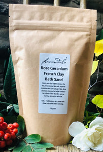 Rose Geranium French Clay Bath Sand