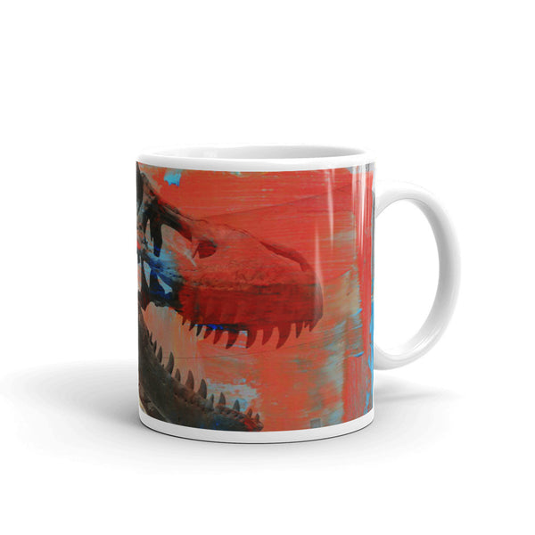 Colorful Tyrannosaurus Rex T-Rex Ceramic Coffee Mug