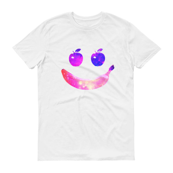 Happy Space Fruit Face Short Sleeve Trendy Graphic T-shirt