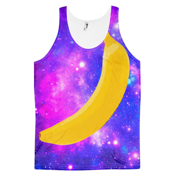 Flying Space Banana Rave Classic Fit Tank Top (unisex)
