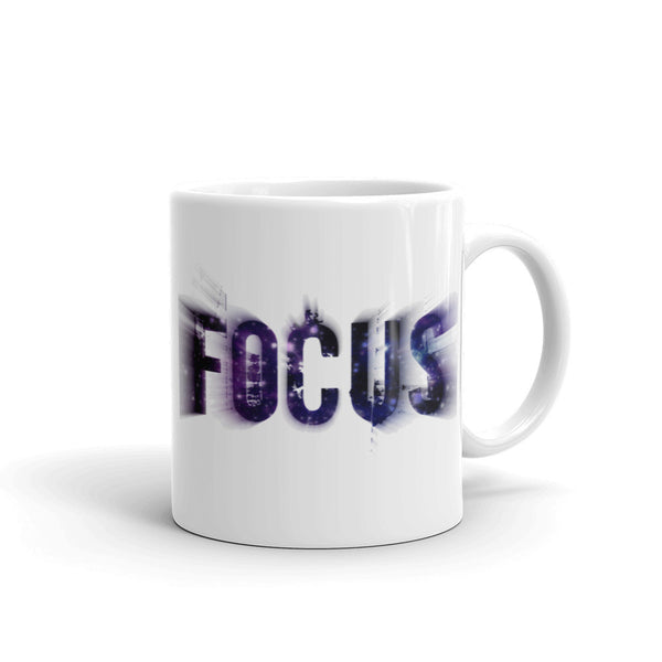 FOCUS Flying Effect Motivational Ceramic Coffee Mug