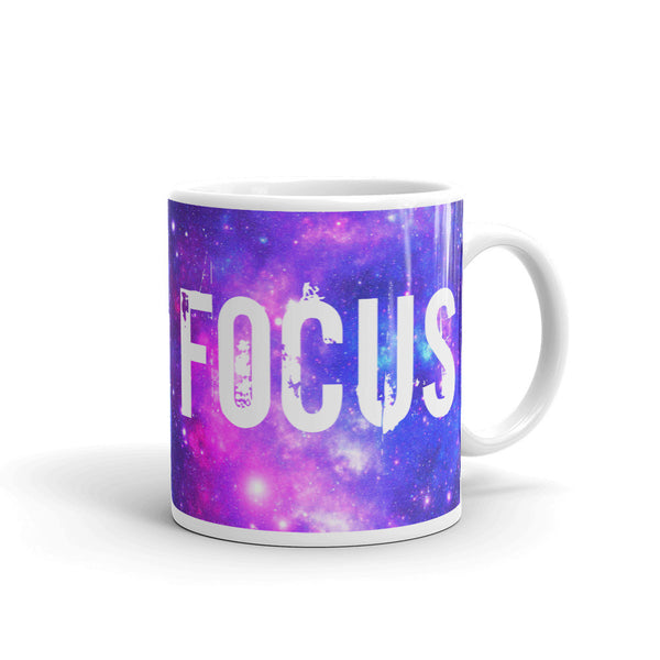 FOCUS Universe Space Design Colorful Motivational Coffee Mug