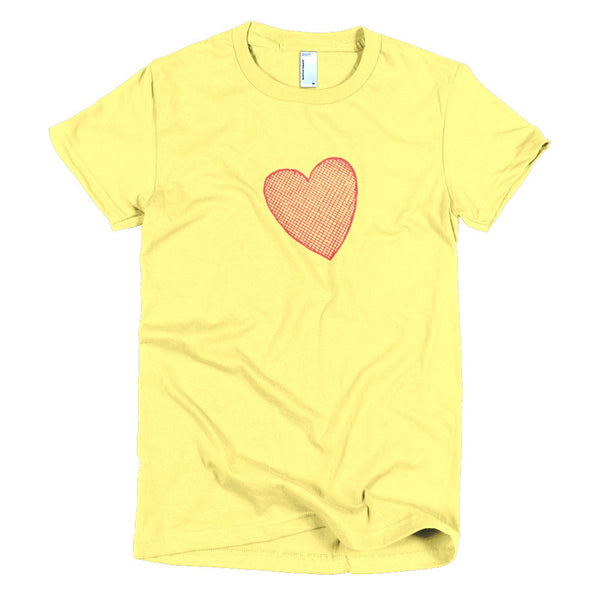 Geeky Accurate Heart Position Short Sleeve Women's T-shirt