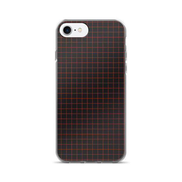 Black Notebook Paper Pattern iPhone 7/7 Plus Case