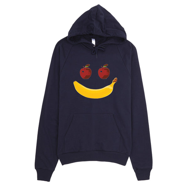 Fruit Face Apple Banana American Apparel Hoodie
