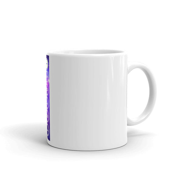 FOCUS! Motivational Space & Stars Design Ceramic Coffee Mug