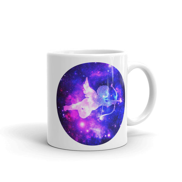 Space Cupid Cosmic Love Ceramic Coffee Mug