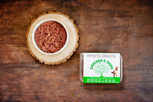 Benyfit Natural raw dog food chicken and tripe