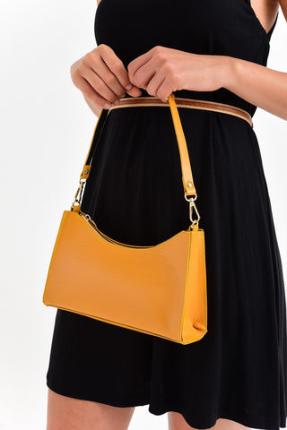 Sac a main jaune moutarde